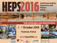 5-7 october 2016, HEPS 2016 – Healthcare systems Ergonomics and Patient Safety – Healthcare and Society news challenges, news opportunities