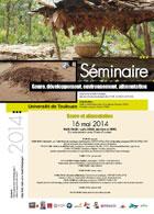 Séminaire doctoral «Genre, développement, environnement, alimentation» – 2014