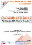 Journée d'étude CERTOP «Le public et le privé»