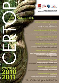 CERTOP Le Séminaire 2010-2011