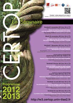 CERTOP Le Séminaire 2012-2013