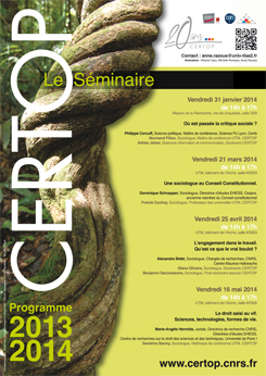 CERTOP Le Séminaire 2013-2014