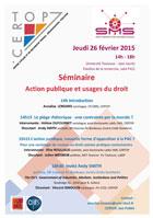 Séminaire «Action publique et usages du droit» 26 février 2015