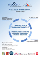 Colloque international « Communication Organisationnelle » 17-18-19 juin 2015