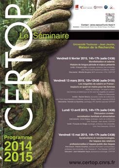 CERTOP Le Séminaire 2014-2015