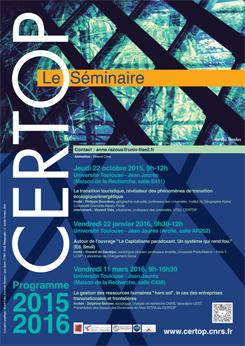 CERTOP Le Séminaire 2015-2016