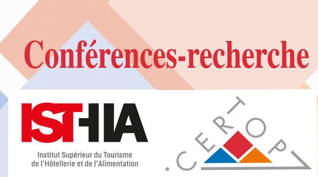 Conférences-recherche Isthia-Certop – Vendredi 17 janvier 2020, 10h – Invité : Antoine Doré (Inra, Agir)