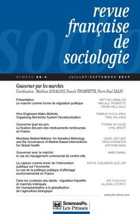 Article :  « Gouverner avec le marché : le cas du management commercial de centre-ville » de Anaïs Daniau
