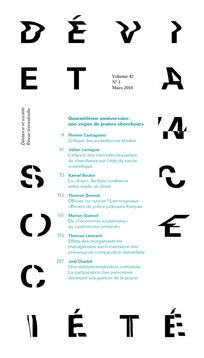 Article primé par la Revue «Déviance & Société»