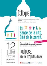 Colloque «Santé de la cité, Cité de la santé» avec les membres du CERTOP | ouvert à tous