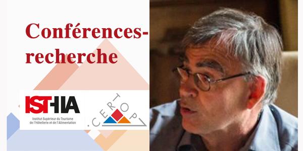 Vidéo : Conférences-recherche ISTHIA-CERTOP : Invité Dominique Desjeux – Jeudi 24 janvier 2019, 14h
