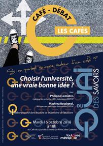 Café du Quai : «Choisir l'université, une vraie bonne idée ?» avec Philippe Lemistre et Mathieu Rossignol – Mardi 16 octobre 2018, 18h