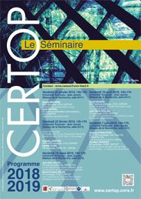 CERTOP Le Séminaire – Programmation 2018-2019