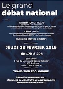 Le grand débat national «Transition écologique», avec Camille Dumat du CERTOP