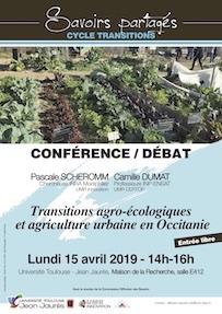 Conférence «Transitions agro-écologiques et agriculture urbaine en Occitanie»