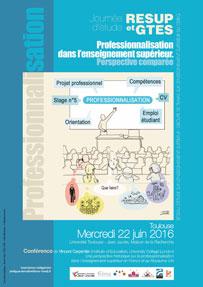 Journée d'étude «Professionnalisation dans l'enseignement supérieur. Perspective comparée» Toulouse, 2016