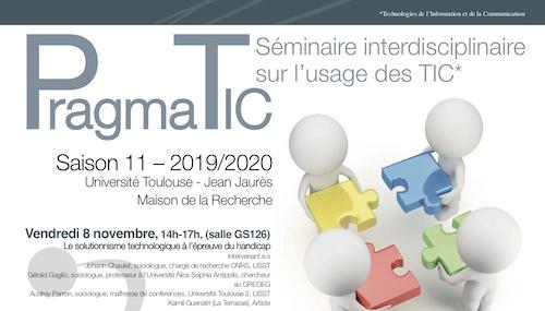 LabEx SMS : Séminaire PragmaTIC – Jeudi 30 janvier 2020, 13h « Environnement : captation citoyenne »