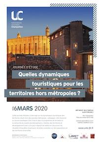 Journée d'étude «Quelles dynamiques touristiques pour les territoires hors métropole ?» vendredi 6 mars 2020