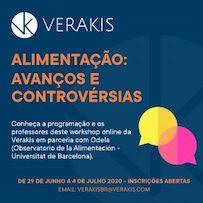 Workshop online: 'Alimentacao: Avanços e Controvérsias'  da Verakis, de 29 de Junho a 4 de Julho 2020 com Jean-Pierre Poulain