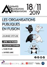 Journée d'études «Les organisations publiques en fusion» Lundi 18 novembre 2019, Bordeaux